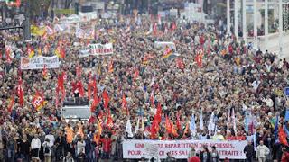 Αλληλεγγύη με τους Εργαζόμενους της Γαλλίας